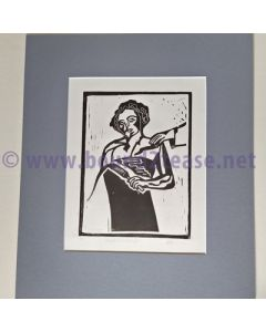 Electromassage - Artists Proof Original  Linocut print
