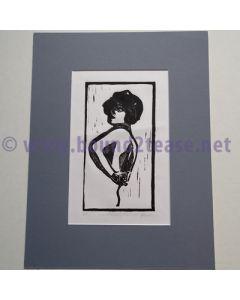 Original Artists Proof Linocut print - Hochfrequenz Apparat