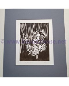 de Herr Pflege - An original limited edition Linocut print