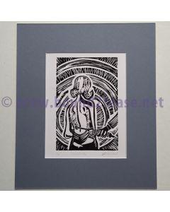 Sciatica - Original limited edition Linocut print