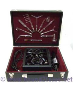 Fluvita violet ray timer & 10 electrodes in Baronial display