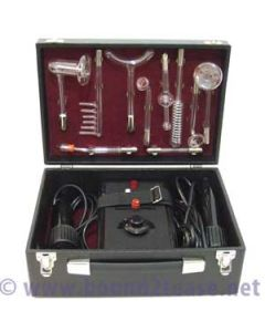 lovely Art  Deco Ixu Violet wand with dual wand hand-pieces and 10 electrodes