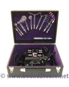Top of the range antique Art Deco Ixu Violet Ray - high powered and working, featuring 11 electrodes and 2 wand handpieces - fully restored in UK by Bound2tease violet wand machines